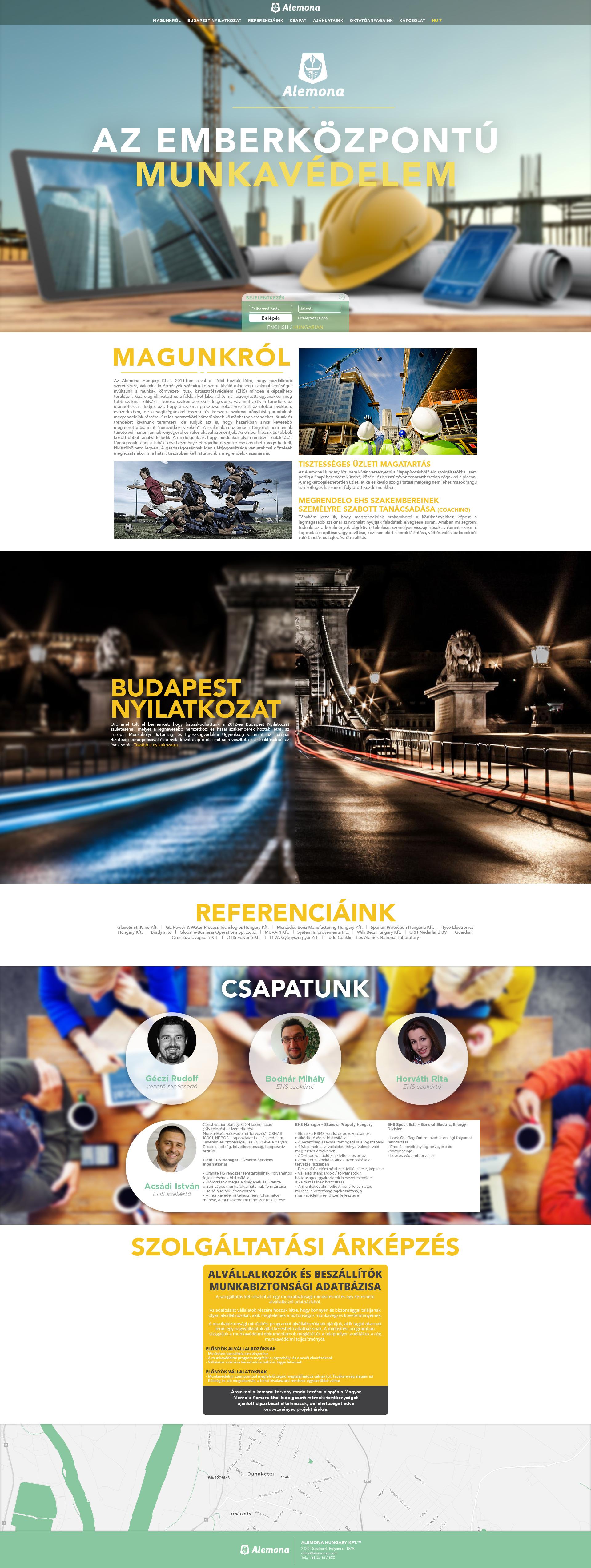 Alemona web design