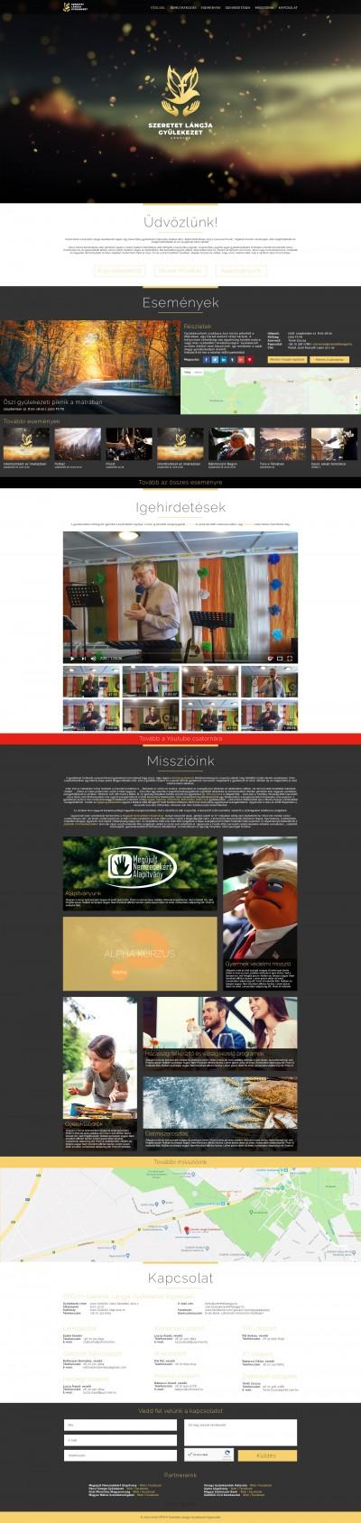 OPGYH Szeretet Lángja Gyülekezet Egyesület webdesign